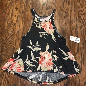 BILLABONG NEW $37 swing floral tank size M